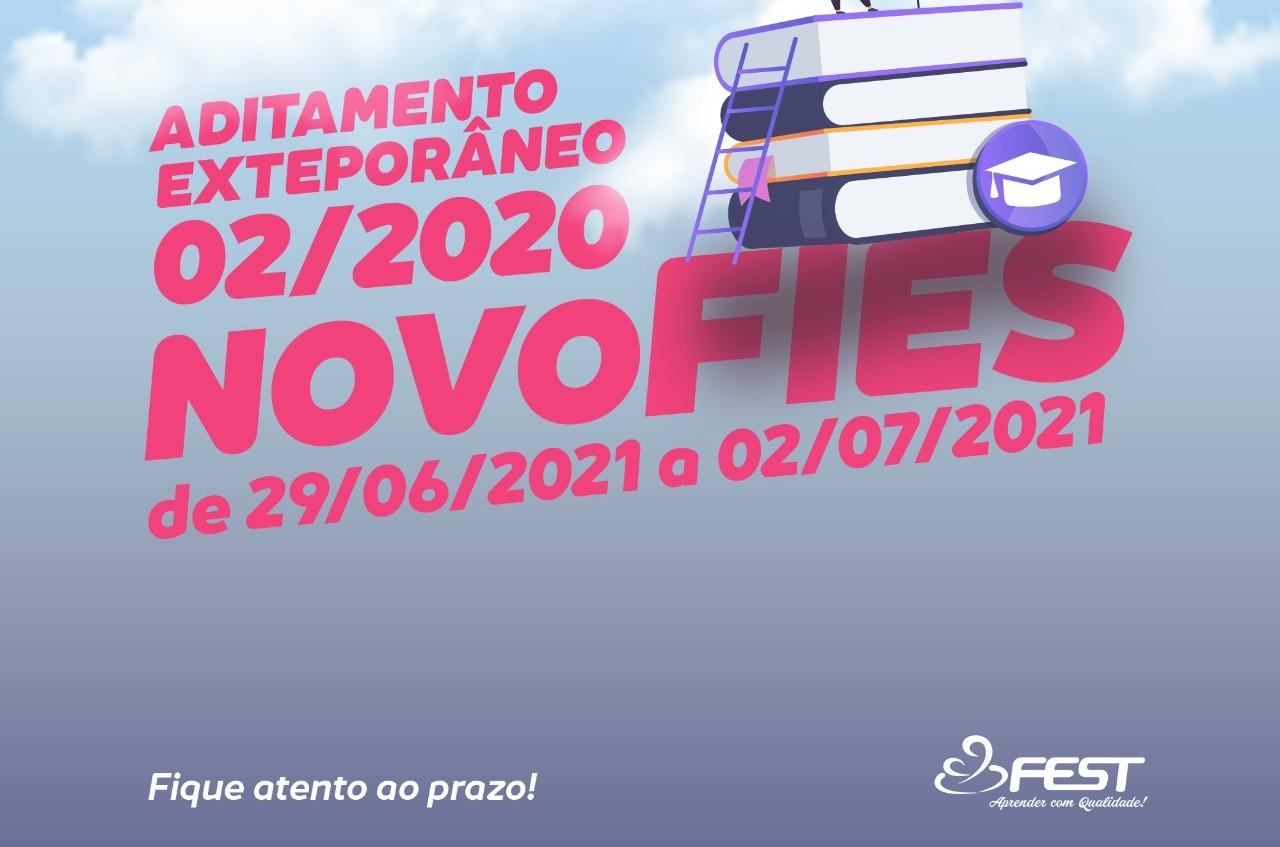 NOVO FIES – ADITAMENTO EXTEMPORÂNEO 2/2020