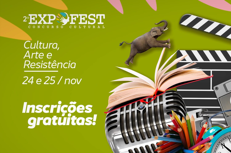 Inscrições abertas para o II Concurso Cultural EXPOFEST